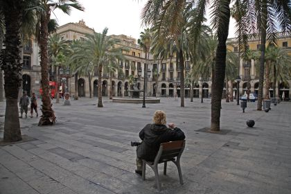 Barcelona, Plaza Real, 6:00 a.m., 2007