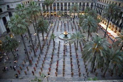 Barcelona, Plaza Real, 10:00 a.m., 2007